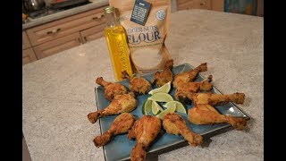 Baked Gluten-Free Tiger Nuts Crusted Curried Chicken Drumsticks: Cooking With Kimberly
