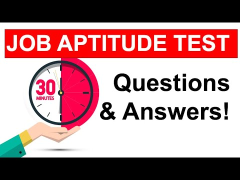 APTITUDE TEST Questions and ANSWERS! (How To Pass a JOB Aptitude Test in 2021!)