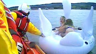 Rescuers Save 5-Year-Old Girls Stranded on Inflatable Swan