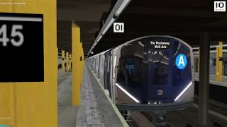OpenBve NYCT (A) R211 Chasing the A Train to 125th St