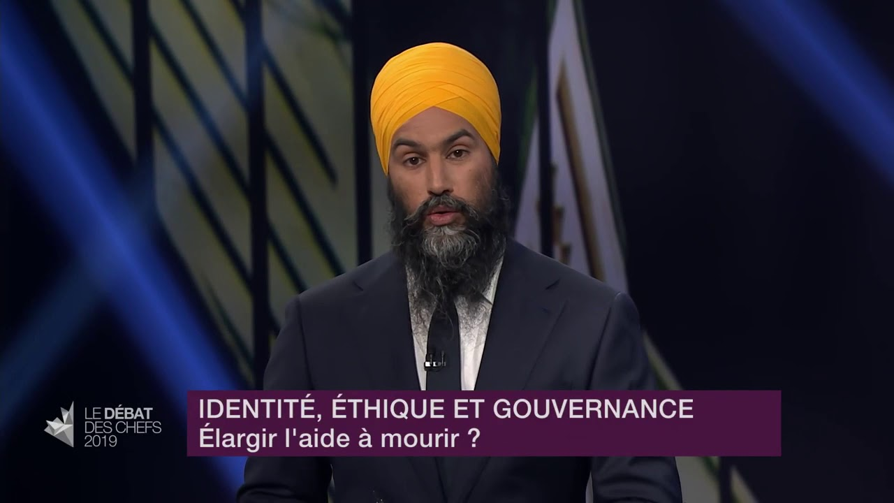 Jagmeet Singh answers a question about medically-assisted dying