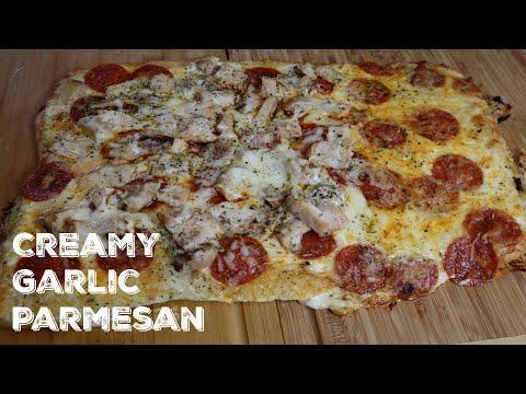 How To Make Creamy Garlic Parmesan Pizza
