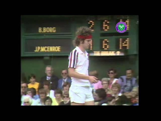 Bjorn Borg vs John McEnroe Wimbledon final 1980