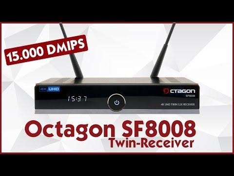 Octagon SF8008 📡 Der 4k Twin S2X Receiver mit 15.000 DMIPS! | Review Deutsch 👑