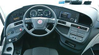 Místo řidiče - stručný přehled palubní desky  Setra 517HD