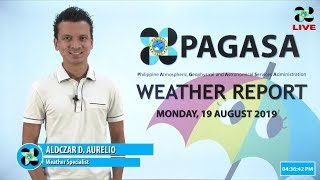 Public Weather Forecast Issued At 4:00 PM August 19, 2019