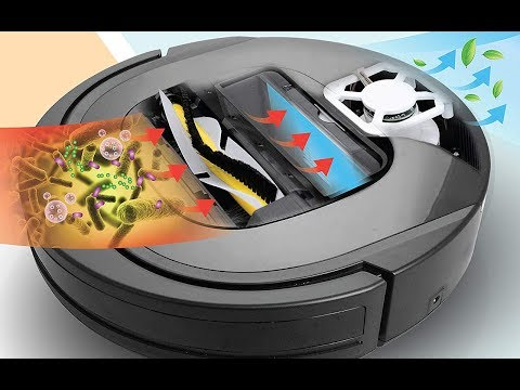 , Review of ROLLIBOT GENIUS BL800 – Robotic Vacuum Cleaner. Vacuum's, Sweeps, and Wet Mops Hard Surfaces and Carpet.