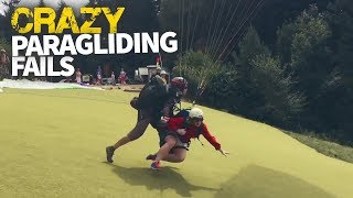 Crazy Paragliding Fails Caught On Camera   What Goes Up...