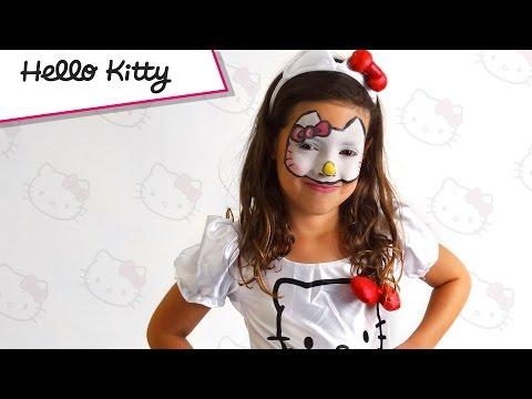 Tutorial trucco Hello Kitty Carnevale