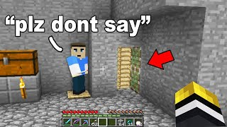 So the richest player on the server told me not to say