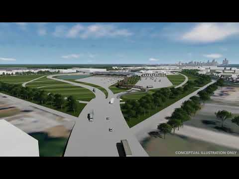 Animation of the US POE (POE) and I-75 interchange