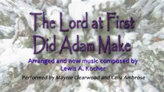 The Lord At First did Adam Make; flute duet