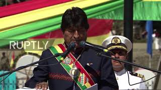 Bolivia: Morales hails his country was 'born with the sea'