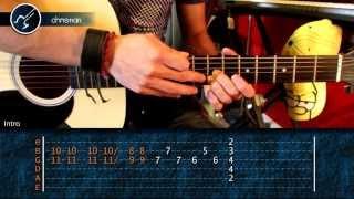 """Cómo tocar """"La Célula Que Explota"""" de Caifanes en guitarra (HD) Tutorial - Christianvib"""