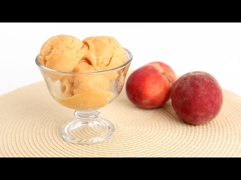 Homemade Peach Sorbet Recipe – Laura Vitale – Laura in the Kitchen Episode 809