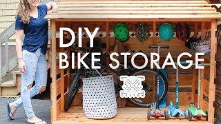 DIY Bike Storage Shed // Beginner Woodworking Project // Outdoor Storage // Storage Solutions