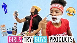 GIRLS TRY OUT BOYS PRODUCTS!!