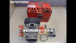 Цилиндр и поршень для Husqvarna 435,435e,440 от компании Инструментик - видео