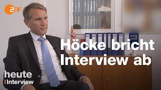 Björn Höcke bricht ZDF-Interview ab und droht