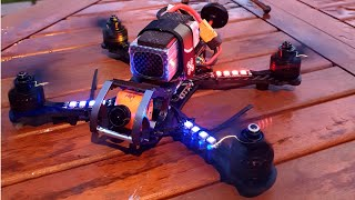 DarkRooster - DarkMax & Rooster Hybrid FPV Racing Quadcopter - Test Flight Garden Cruise