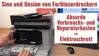 Sinn und Unsinn von Farblaserdruckern - Absurde Verbrauchskosten = Elektroschrott