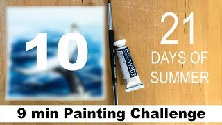 DAY 10 Watercolor Painting Challenge TAG #maria21daysofsummer