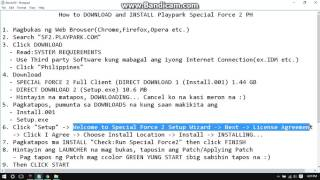How to Download and Install Special Force 2 PH