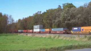 preview picture of video 'CSX Q115 at Lyons, NY 09-26-09'