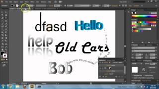 Adobe Illustrator CS6 & CC - Text Basics - Text Tool Tutorial