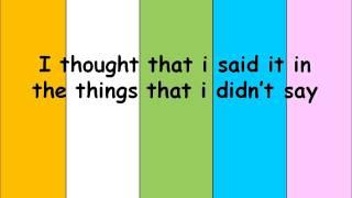 Adam Lambert - Things That I Didn't Say Lyrics