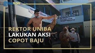 Rektor Uniba Ikut Demo hingga Copot Baju dan Nyatakan Mundur, Sebut Intervensi Yayasan Terlalu Kuat