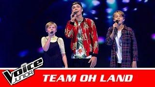 "Birk, Niklas & Esmaralda (Team Oh Land) | ""Blind Igen"" af Karl William | Battle | Voice Junior 2016"