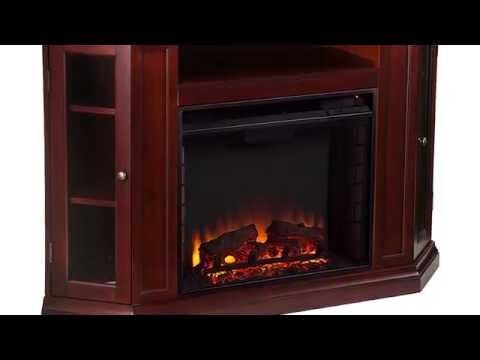 Southern Enterprises Claremont Electric Fireplace Media Console - Cherry