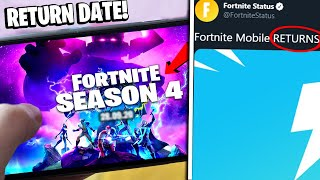 Fortnite Mobile RETURN DATE CONFIRMED! (Season 4 for MOBILE PLAYERS Update)