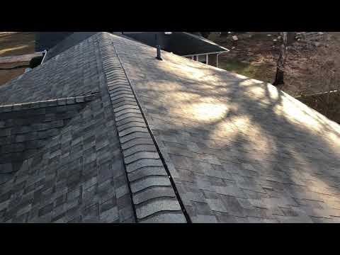 This is the CertainTeed Landmark AR Architechural Shingle. This roof was leaking in a couple of places. But now it will be dried in and weather resistant for years to come.