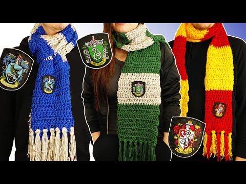 """Harry Potter"" Häuser Schals Häkeln  Hogwarts DIY  Fantasic Beasts  Gryffindor, Slytherin, Ravenclaw"