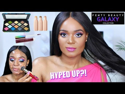 NEW FENTY BEAUTY GALAXY COLLECTION + FIRST LAUNCH REVIEW, TUTORIAL & FIRST IMPRESSION  | OMABELLETV
