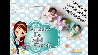 Carrinho de Bebê de Biscuit - Cortador Carrinho de bebê coleçao Bia Cravol