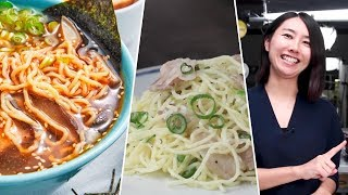 TESTING Rie's FAVORITE Japanese Noodles - Buzzfeed Tested