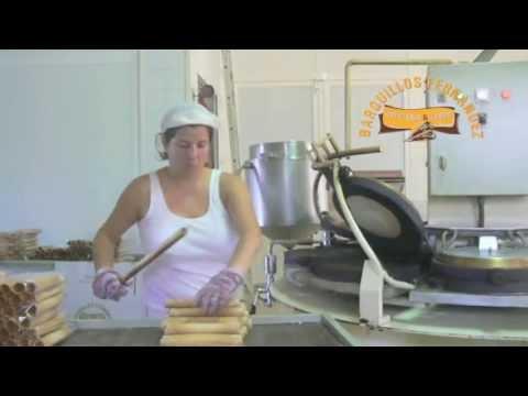 Fabricación artesanal de Barquillos y rulos para helado Barquillos Fernández