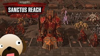 NEW DLC FACTION! CHAOS DEMONS VS IMPERIAL GUARD - SANCTUS REACH GAMEPLAY