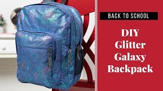 DIY Back to School Galaxy Backpack