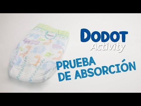 Prueba de absorción, pañales Dodot Activity