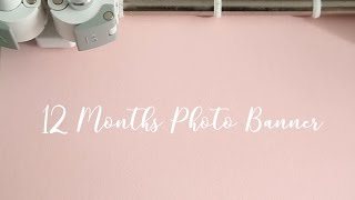 12 Months Photo Birthday Banner - Hand Made First Birthday Party Decorations