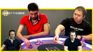 WPT Champ Art Papazyan Plays Another Huge Pot With Clayton ♠ Live at the Bike!