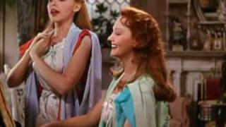 JUDY GARLAND: 'MEET ME IN ST LOUIS, LOUIS'  WITH LUCILLE BREMER. A CLOSEUP.