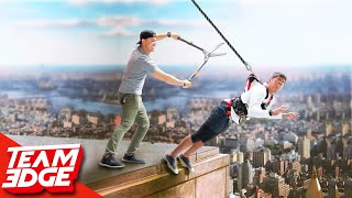 Don't Fall from the 2nd Story! | Rope Cut Challenge!!