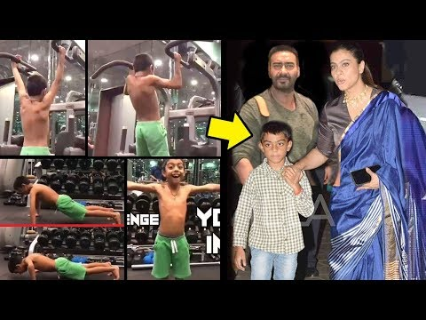 Download Ajay Devgan & Kajol's Son Yug's Unbelievable SHOCKING Gym Workout For Fitness Challenge India HD Mp4 3GP Video and MP3