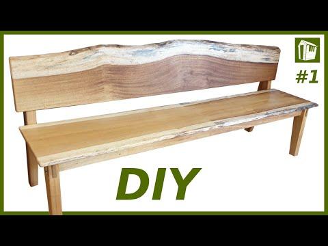 DIY Möbel selber bauen   XXL Sitzbank aus Massivholz   Teil 1
