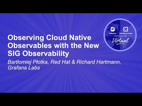 Image thumbnail for talk Observing Cloud Native Observables with the New SIG Observability